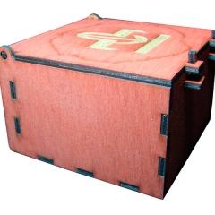 Лазерная резка и гравировка Коробка для чая в пакетиках №2 8(499) 409-28-36