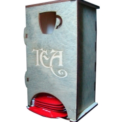 Лазерная резка и гравировка Коробка для чая в пакетиках 8(499) 409-28-36