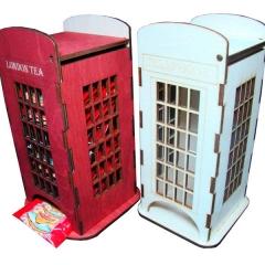 Лазерная резка и гравировка Телефонная будка 8(499) 409-28-36