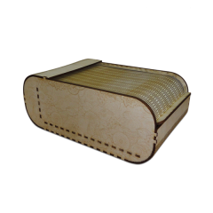 """Лазерная резка и гравировка Коробка с откидной крышкой """"Вытянутая"""" 8(499) 409-28-36"""