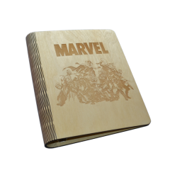 """Лазерная резка и гравировка Деревянная обложка """"Марвел"""" 8(499) 409-28-36"""