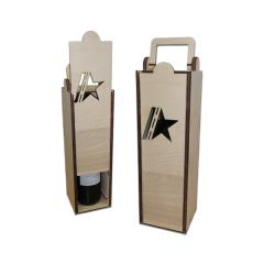 """Лазерная резка и гравировка Упаковка для бутылки """"Армейская"""" 8(499) 409-28-36"""