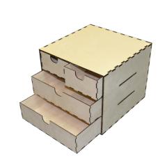 """Лазерная резка и гравировка Коробка с ящиками """"Стандарт"""" 8(499) 409-28-36"""
